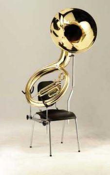 Sousaphon Halter für den Stuhl Nota